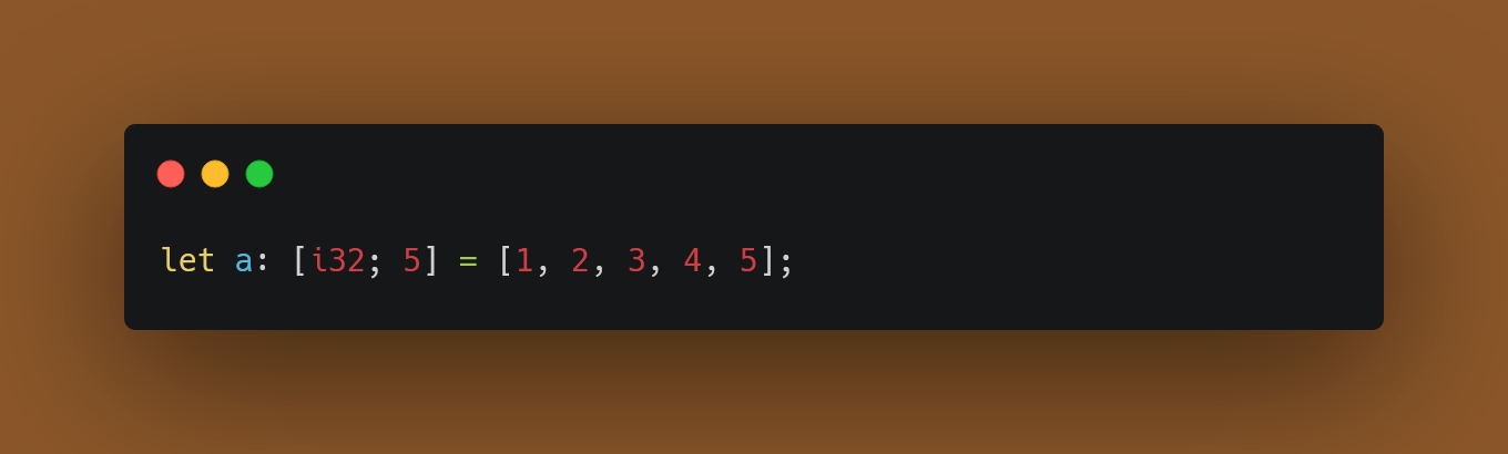 Declaring an Array with Type and Size